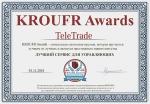 TeleTrade — «Лучший сервис для управляющих» по итогам открытого голосования на сайте KROUFR AWARDS — 2016